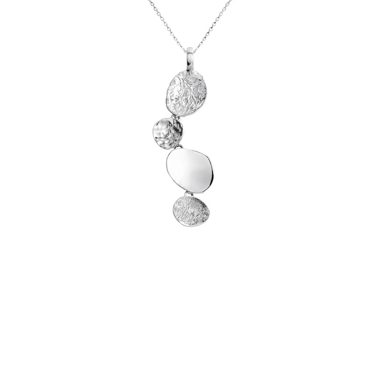 Stepping Stones Pendant, Sterling Silver by Chris Lewis