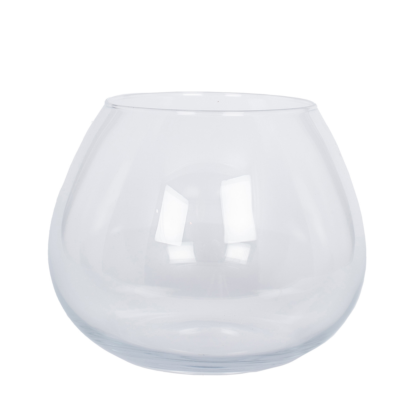 Clear Glass Roza Vase, Small