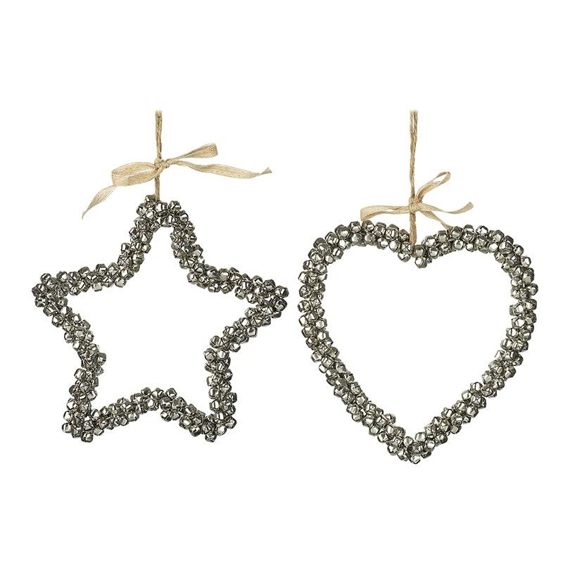 Bell Star / Heart Decorations