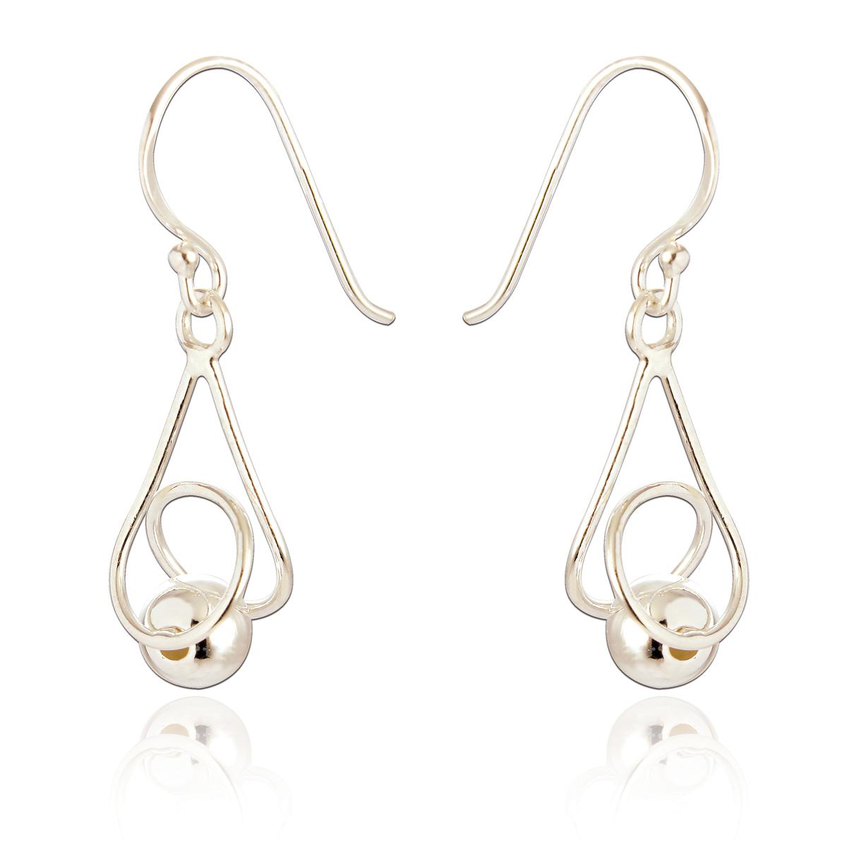 Spoke 925, Abigail Drop Earrings, Silver