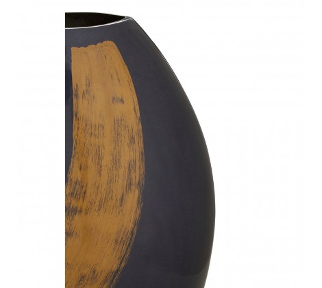 Alma Large Blue/ Gold Brushstroke Vase