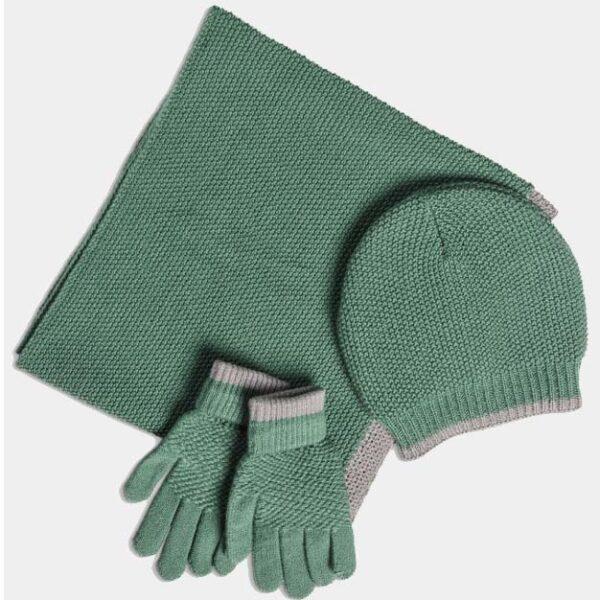 Quintessential Moss Stitch Hat, Green