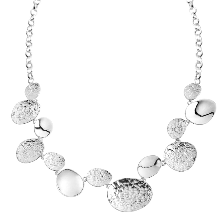 Stepping Stones Necklace, Sterling Silver by Chris Lewis