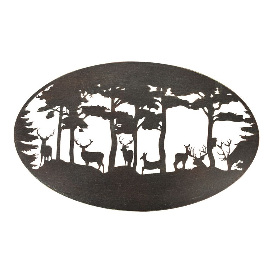 Wall Art Deer Oval
