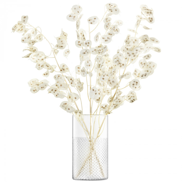LSA Wicker Vase / Lantern, Clear - 25cm