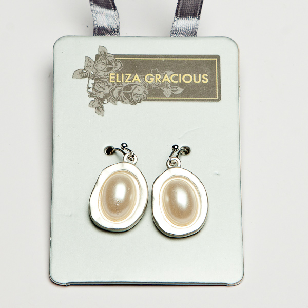 Eliza Gracious Pearl Beaded Earrings
