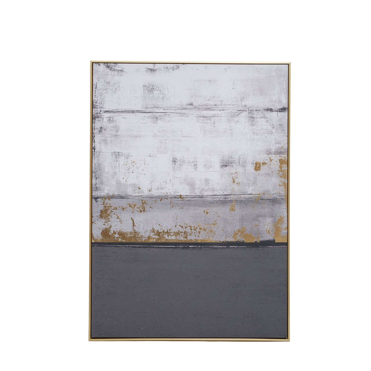 Astratto Grey Oil Paint Wall Artwork