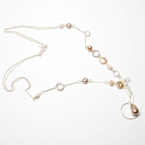 Eliza Gracious Freshwater Pearl and Beads Long Necklace