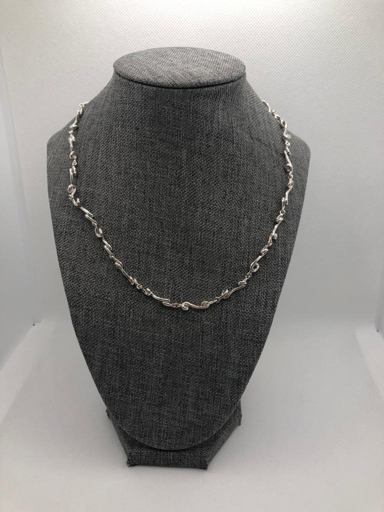 Silk Necklace, Sterling Silver by Chris Lewis