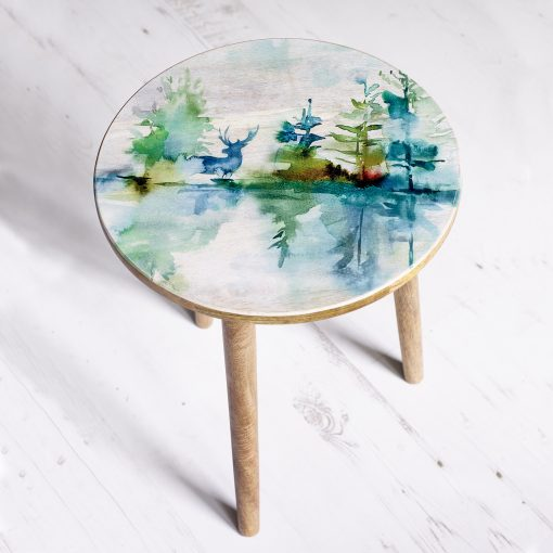 Voyage Rotunda Hand Painted Table Wilderness