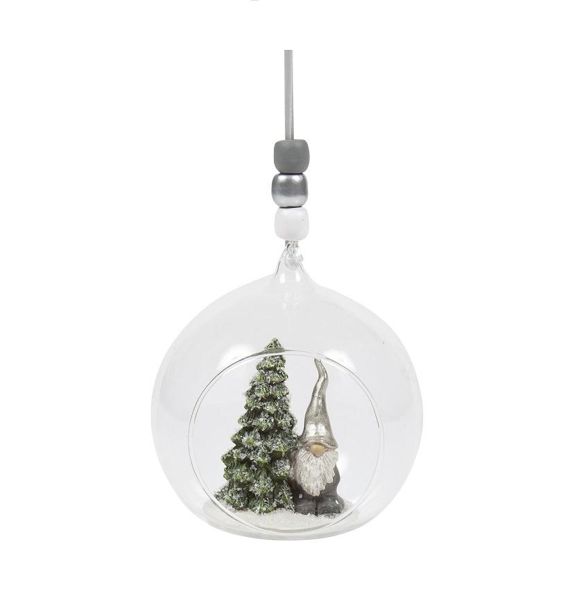 Naasgransgarden Glass Ball Santa Fritte
