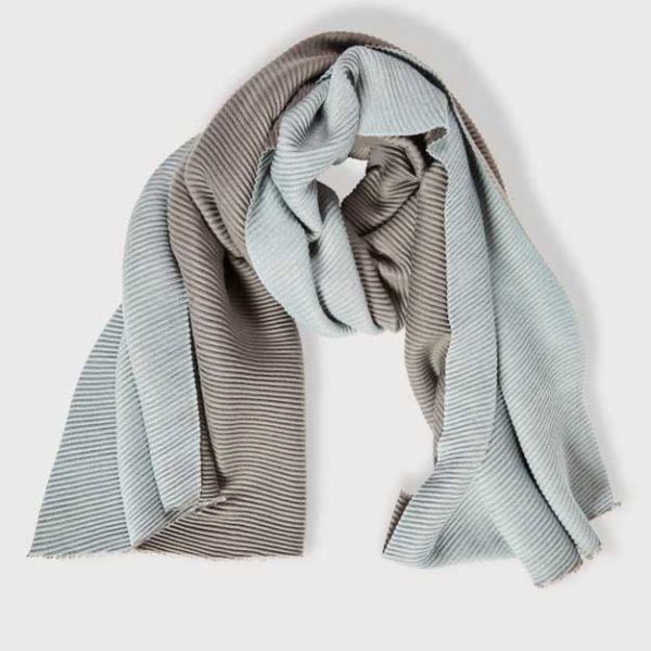 Quintessential Crimped Scarf, Charcoal and Grey