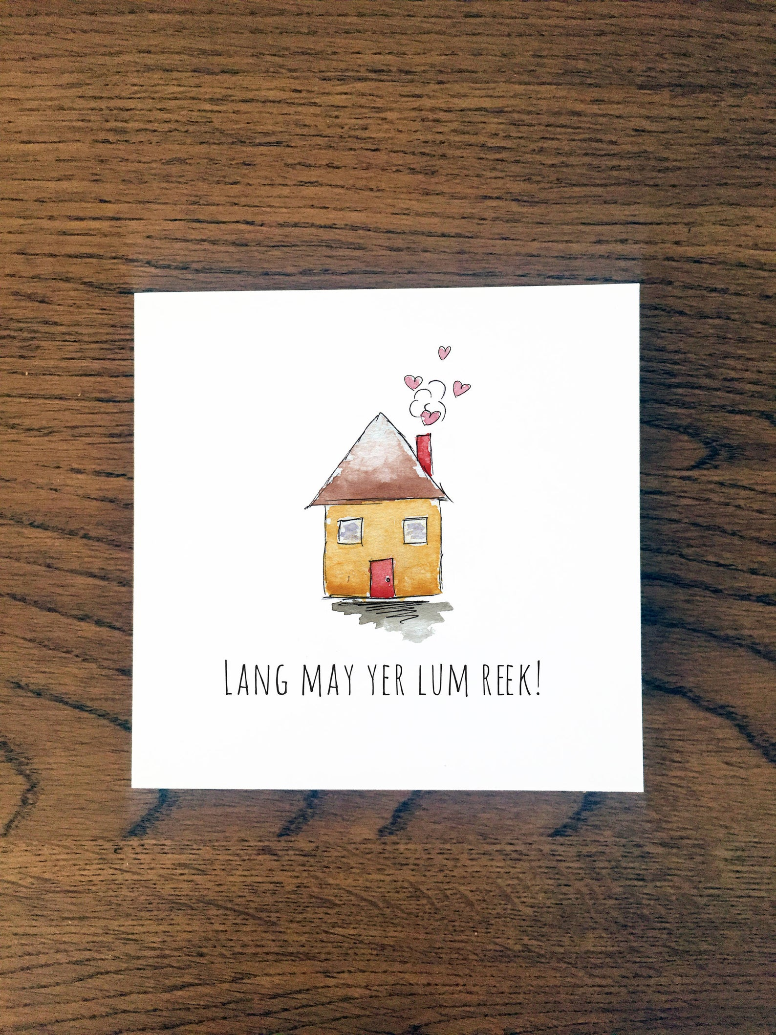 Doric Cards, Scottish Wedding Card - Lang May Yer Lum Reek