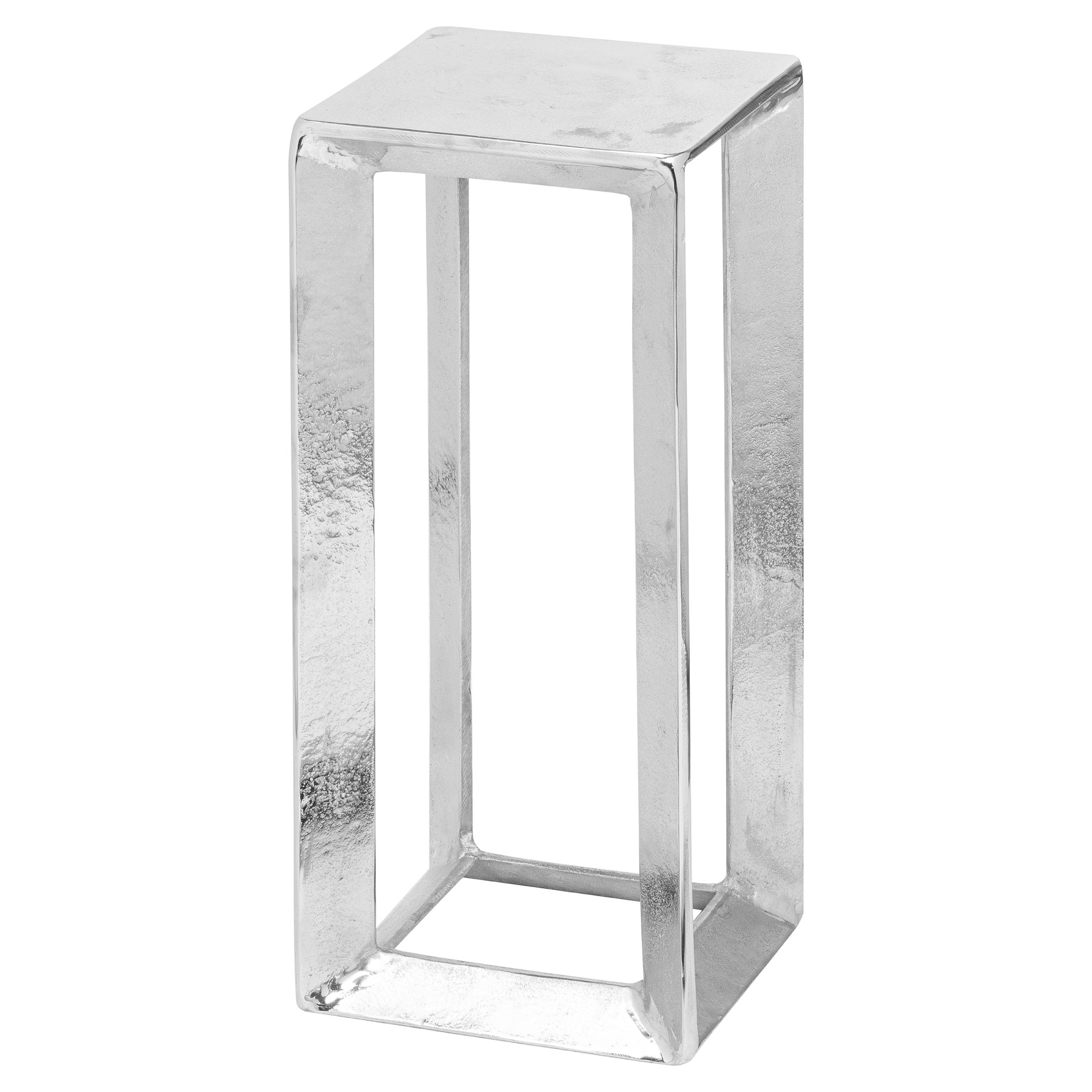 Farrah Collection Silver Plant Stand, Small