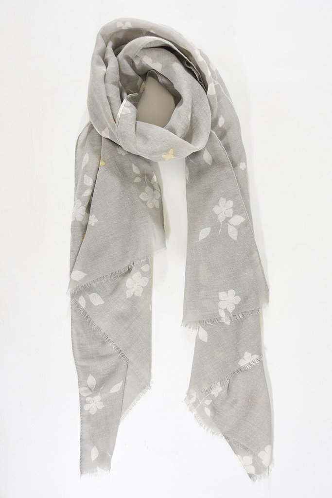 MSH Light Grey / Gold Bumble Bee Scarf