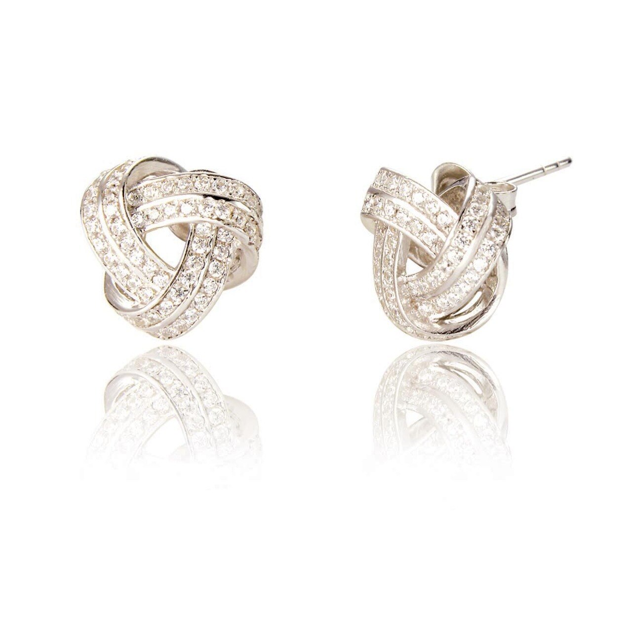 Spoke 925, Eugenie Knot Stud Earrings
