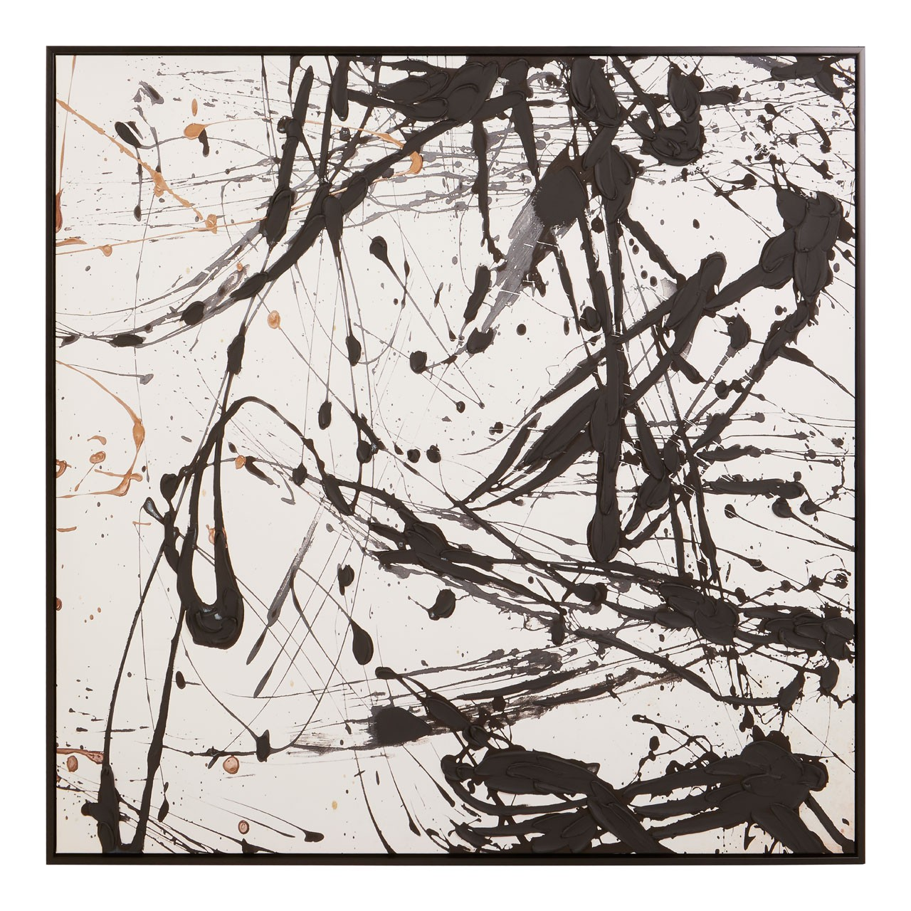 Astratto Oil Painting, Black / White