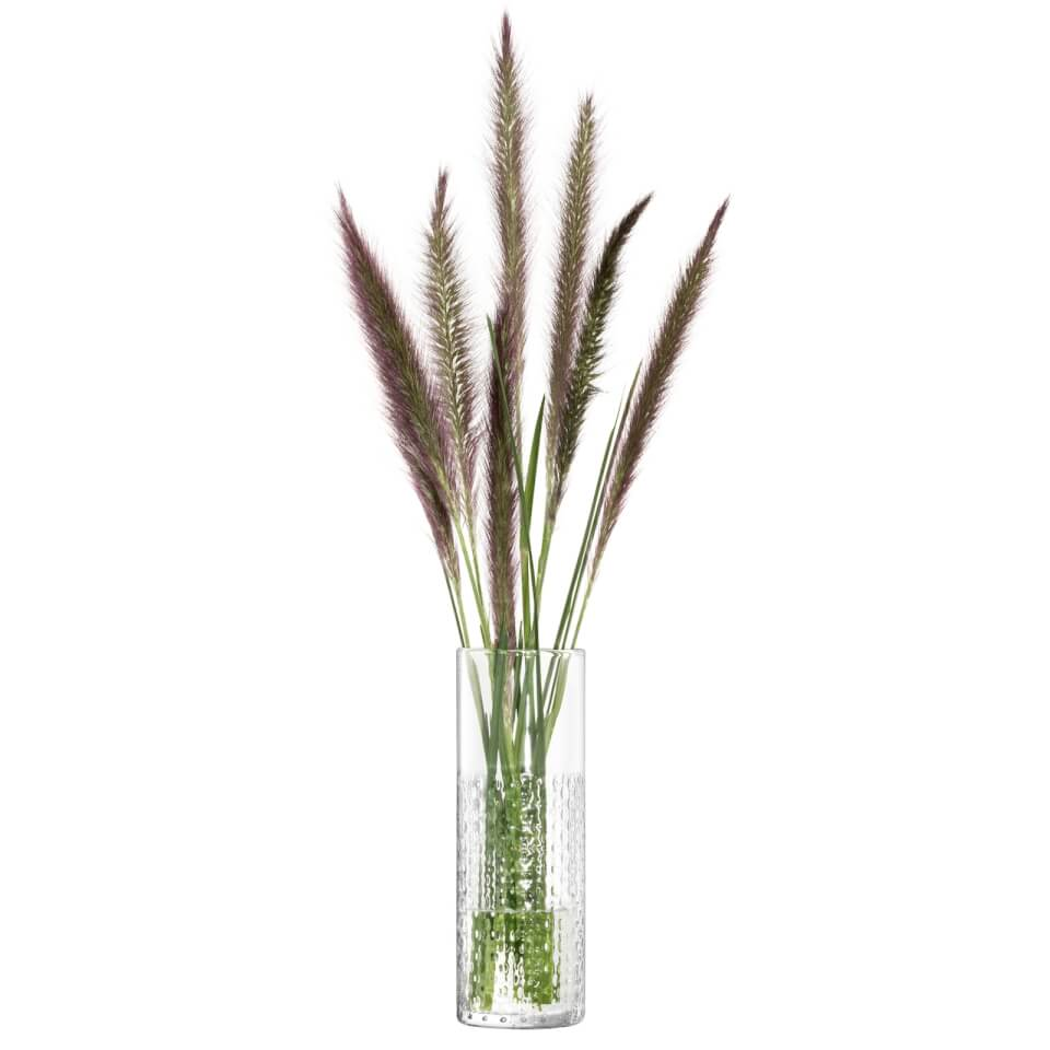 LSA Wicker Vase, Clear - 20cm