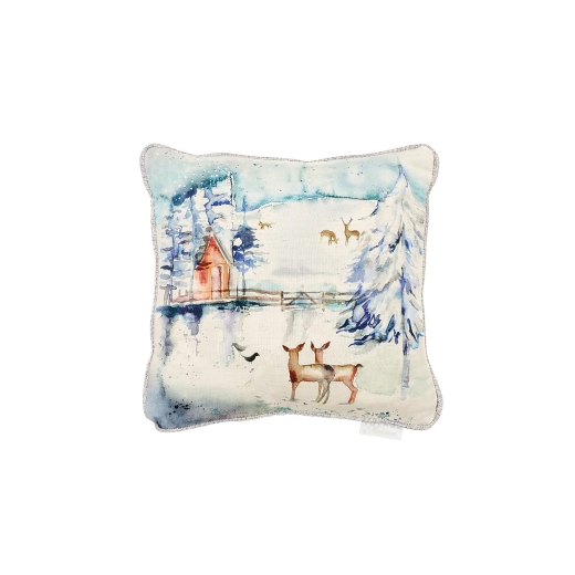 Voyage Maison - Christmas Collection - Winter Peaks Linen Cushion