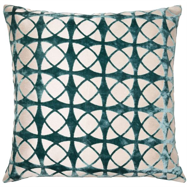 Malini Spiral Teal Cushion