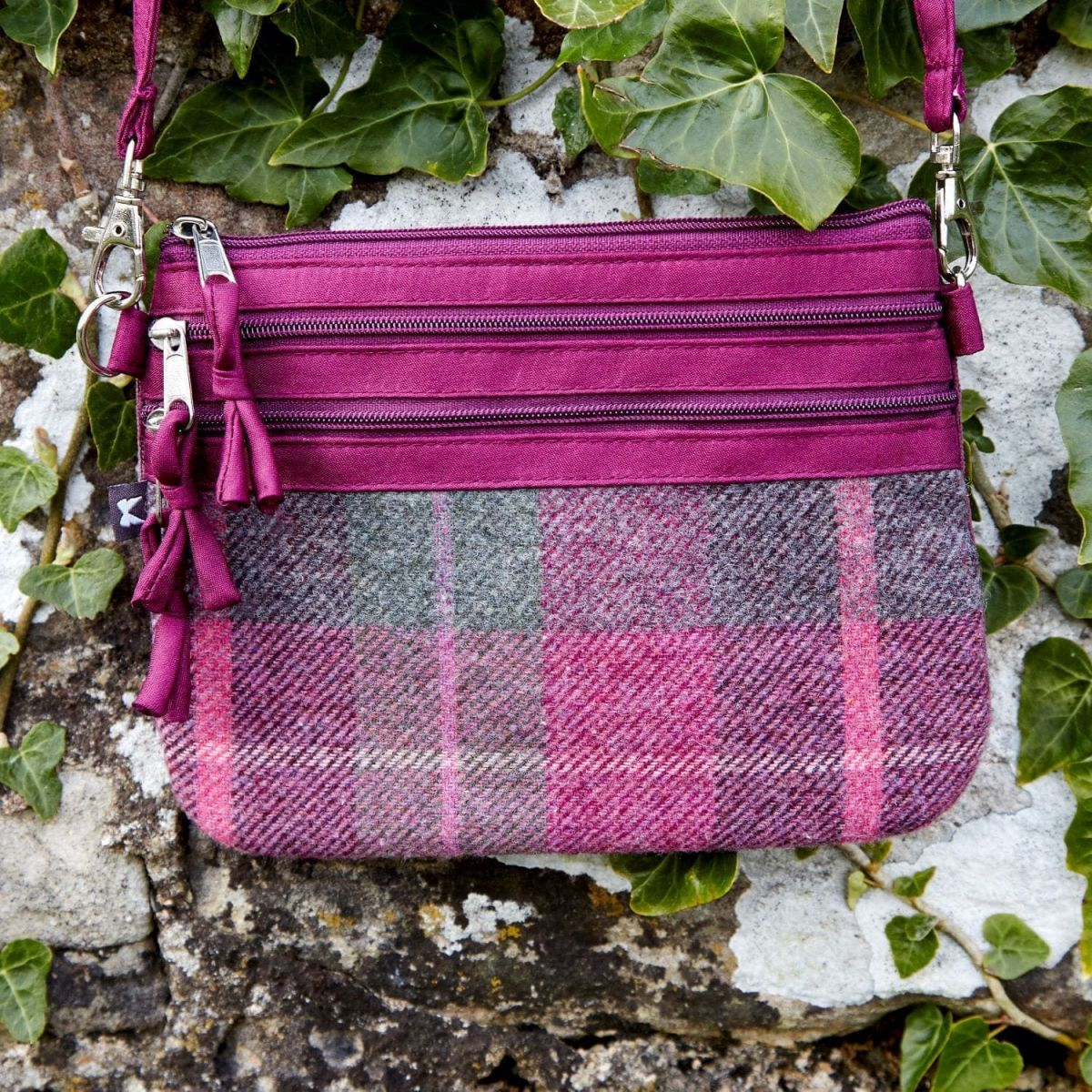 Earth Squared Tweed Pouch Bag