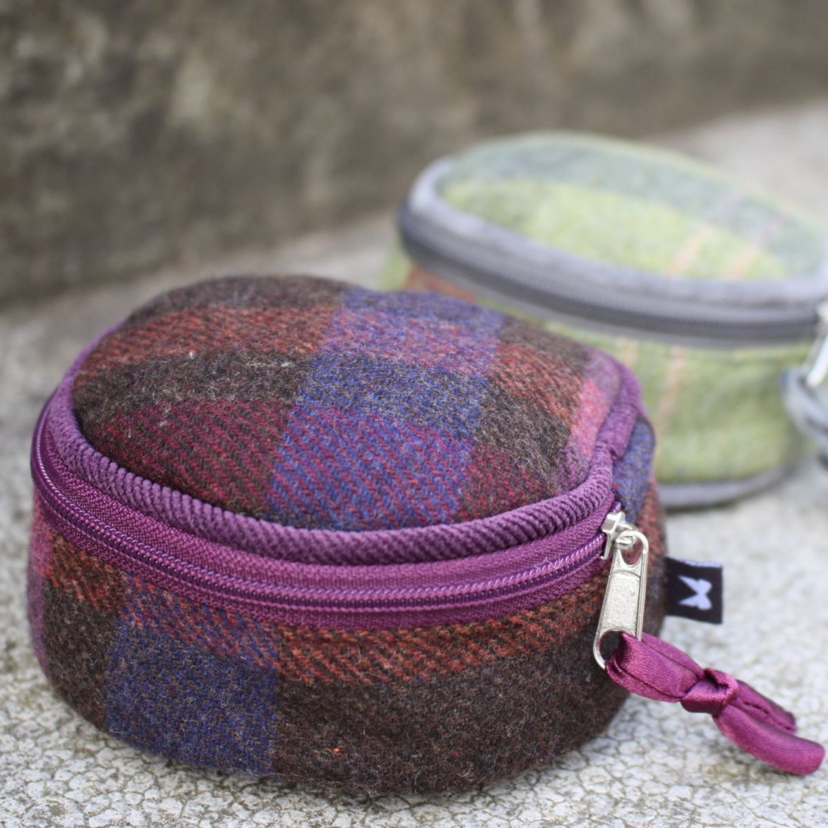 Earth Squared Tweed Jewellery Pouch