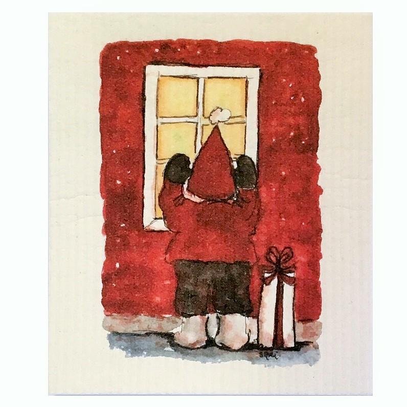 Keittiöliina Tonttu ikkunassa