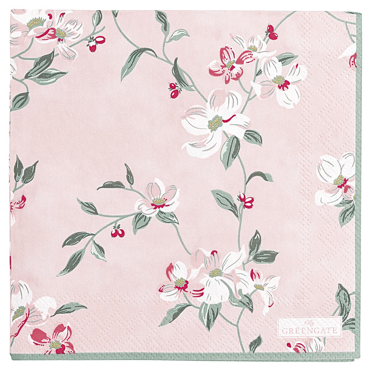 Jolie pale pink servetti