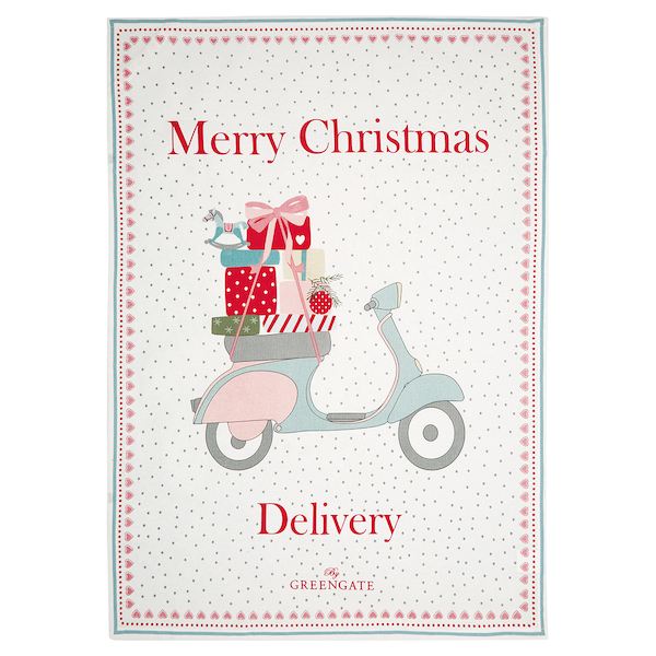 GG Scooter Merry christmas keittiöpyyhe