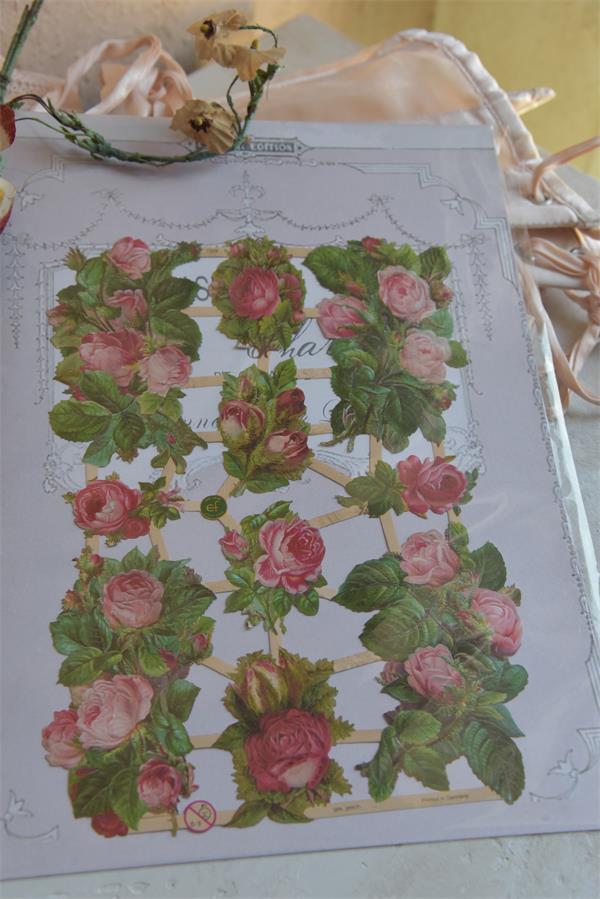 JDL Kiiltokuva ruusu v.pun.
