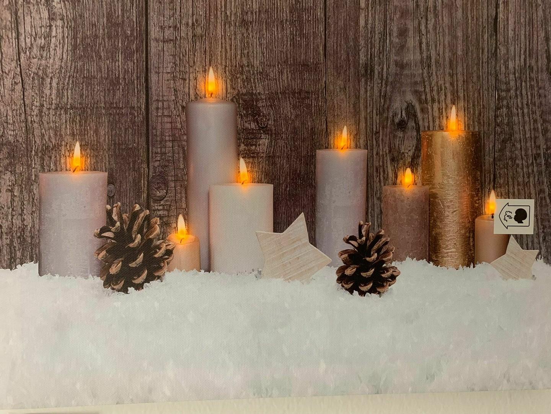 Led taulu kynttilät