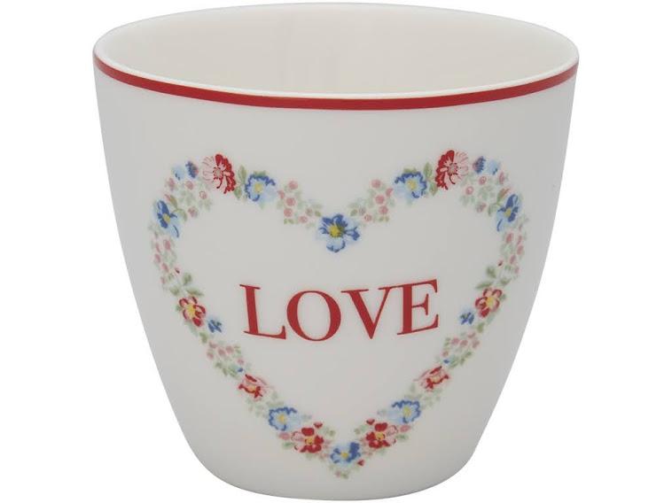 Latte Heart love white