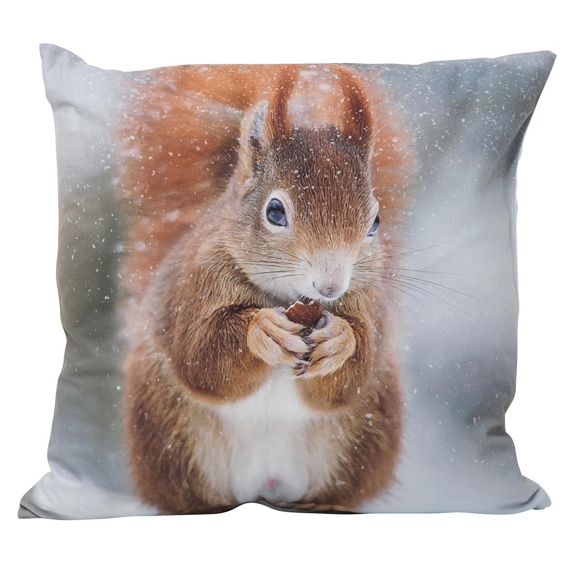 Sisustustyynyliina orava 45 x 45