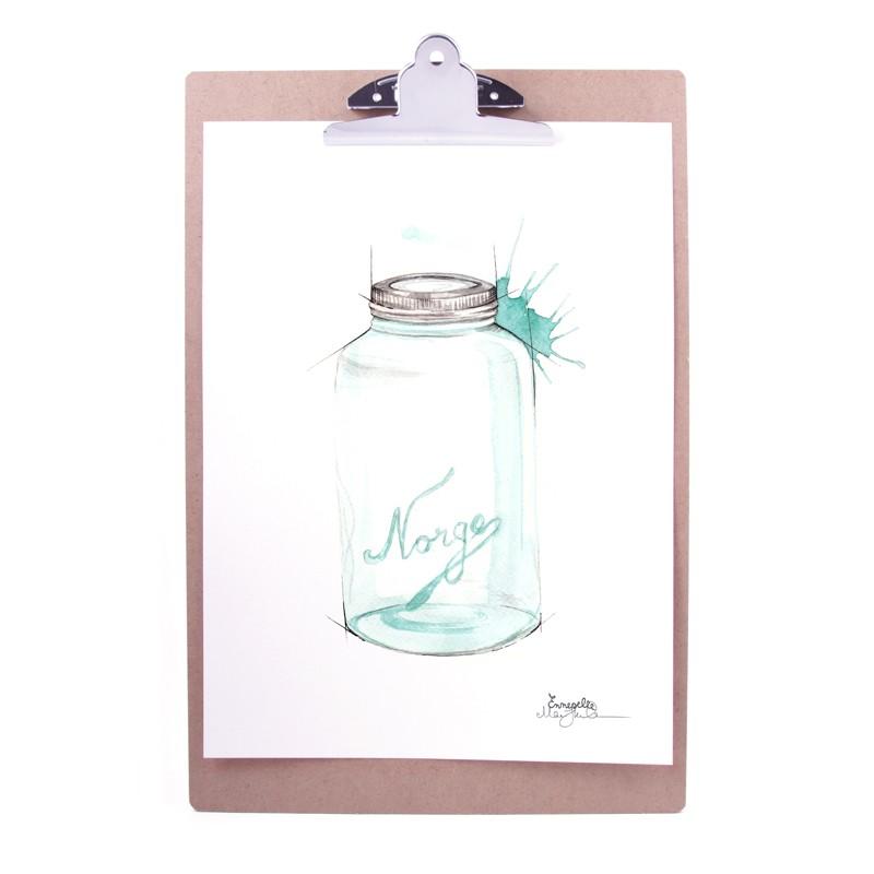 Emmeselle - Plakat «Norgesglass»