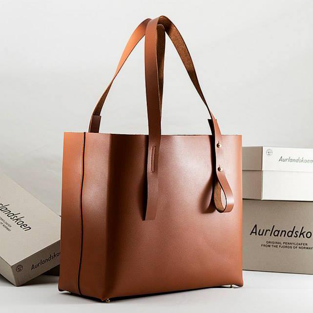 Aurlandskoen - Tote Bag Lys Naturell