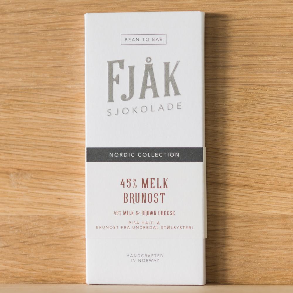 45% Karamellisert Melk & Brunost