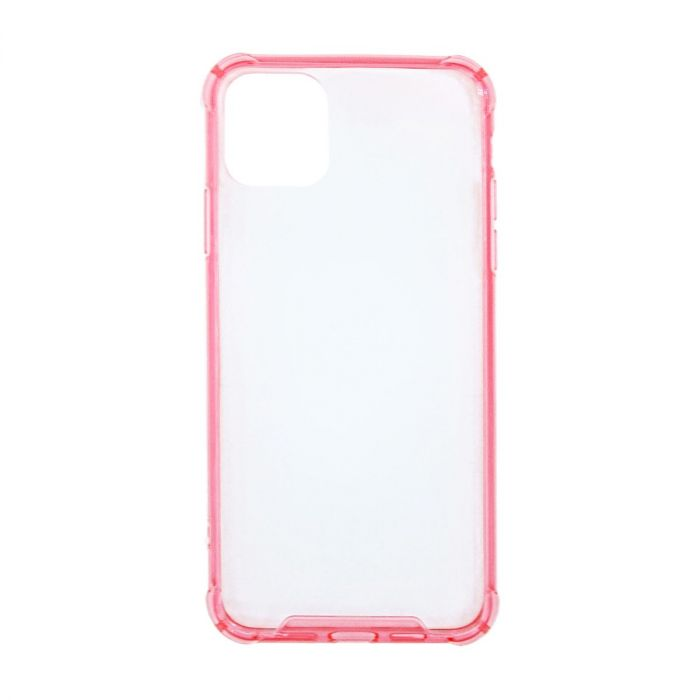 Bumper skal iphone 11 transparent rosa