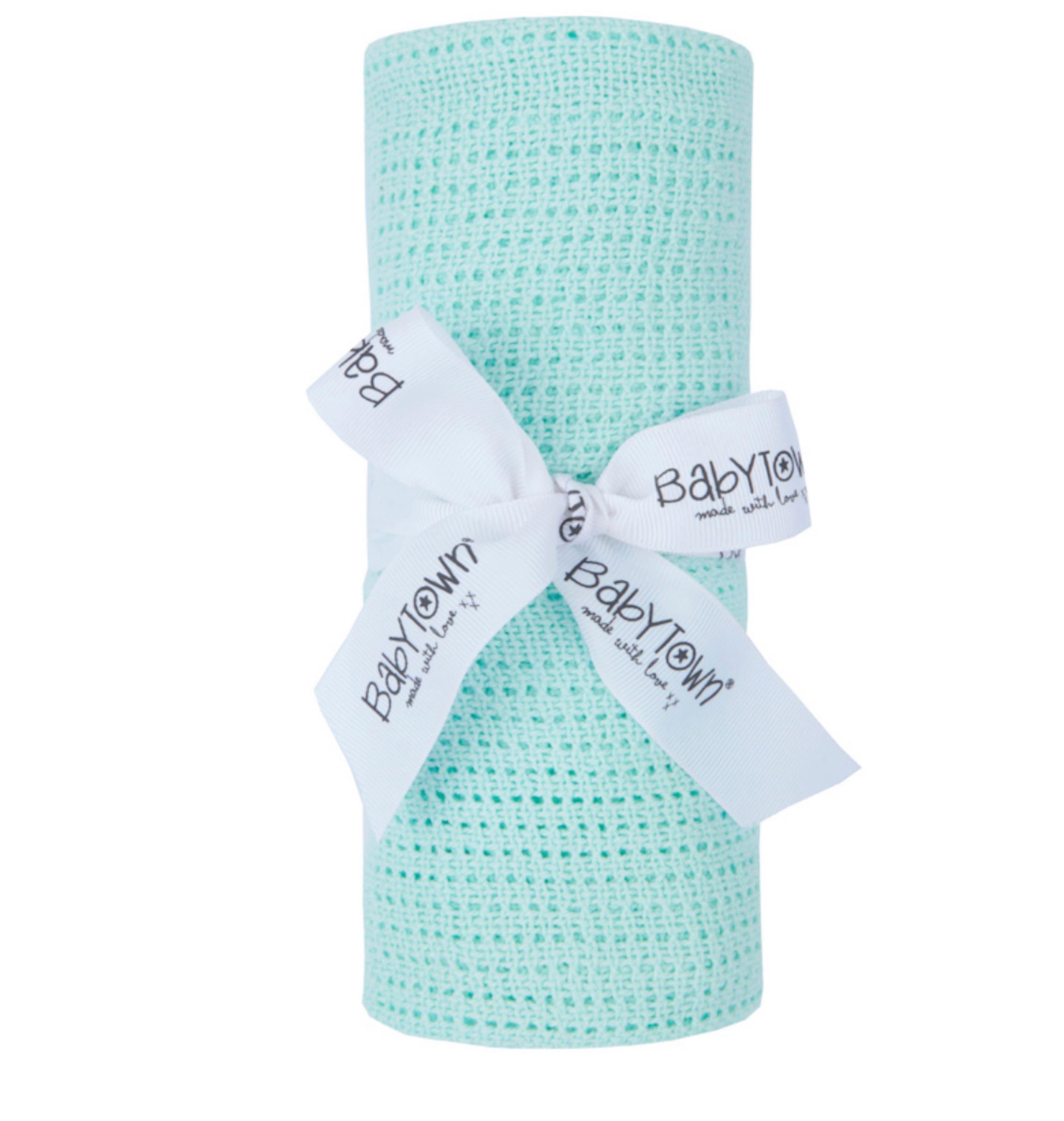 70x90 cellular blanket - mint