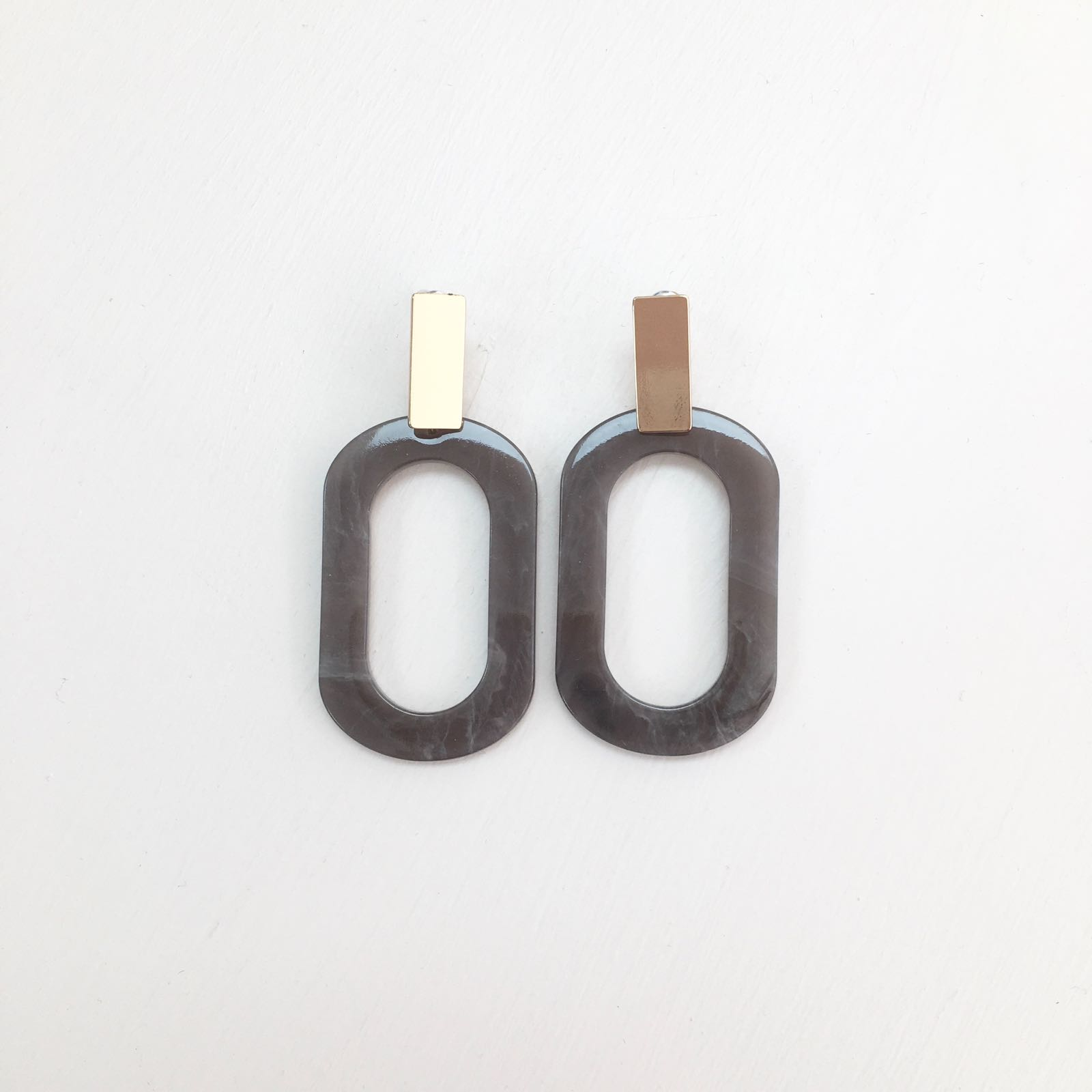 Brigitte Oblong Earrings