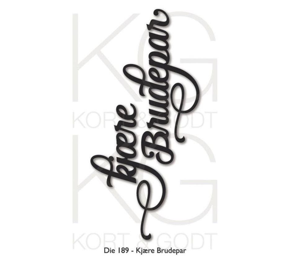 Kort & Godt - Die 189 - Kjære brudepar