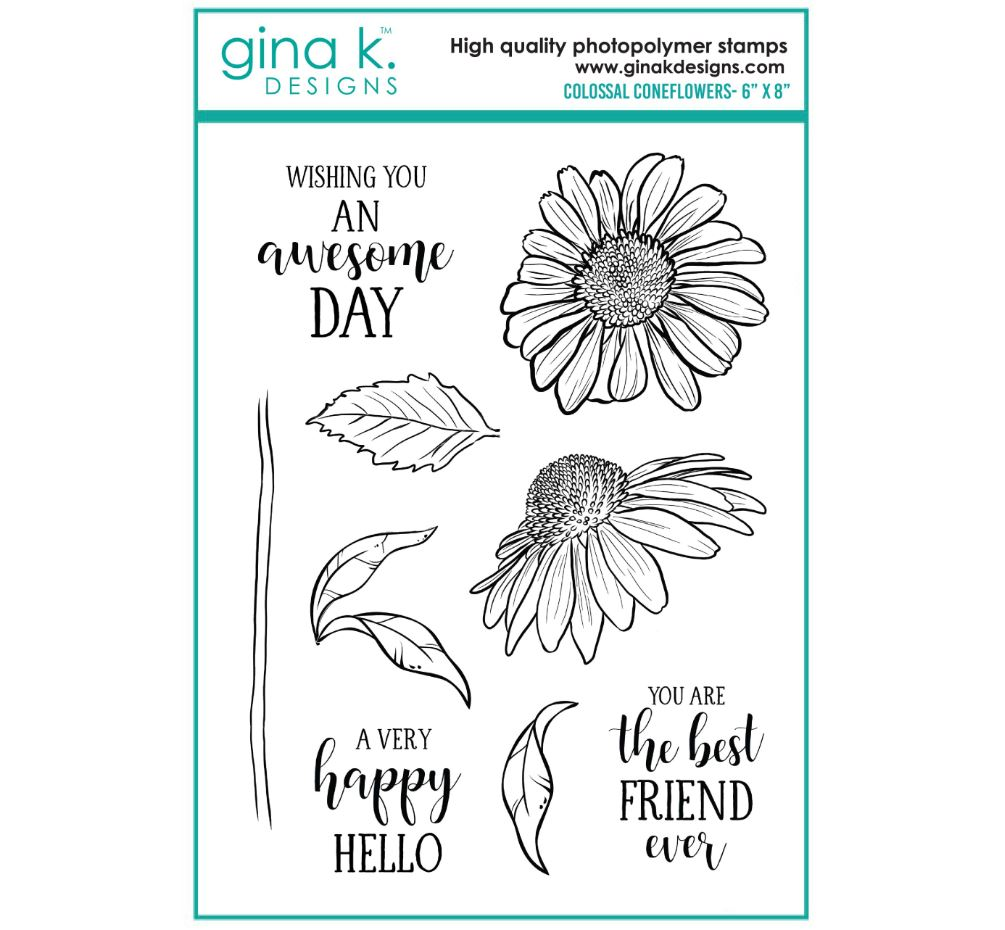 Gina k. DESIGNS - Stamp and Die set - Colossal Coneflower (2 valg)