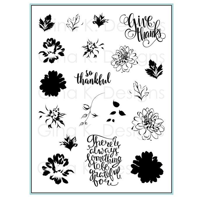Gina k. DESIGNS - Stamp and Die set - Painted Autumn (2 valg)
