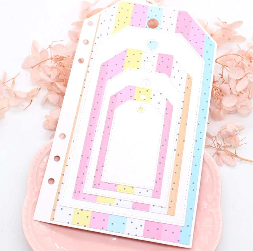 Nicole - Planner All About Labels Set Metal Cutting Dies