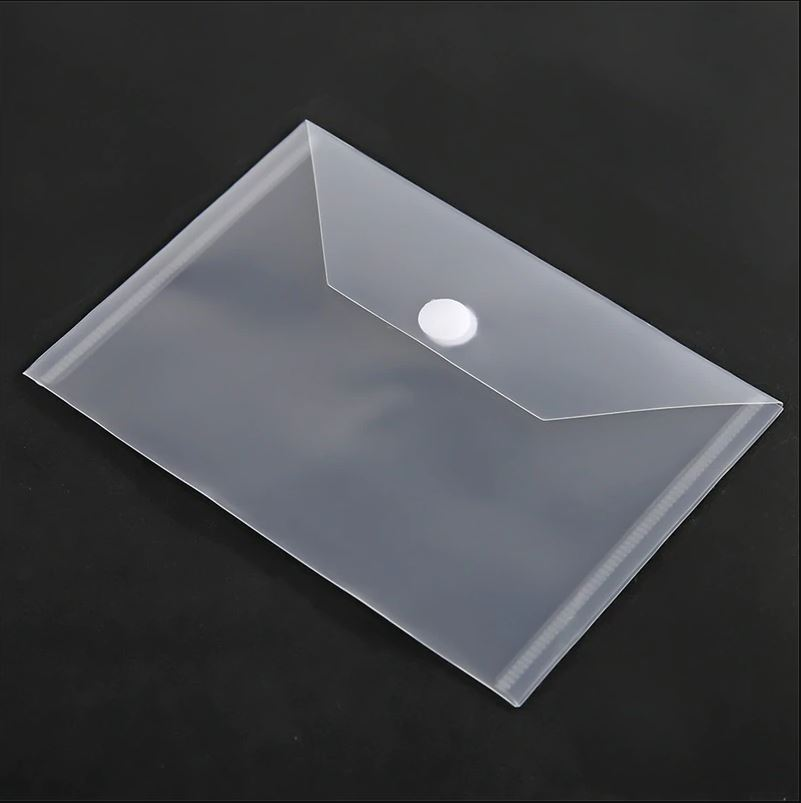 10 stk 18x13cm Clear Plastic Storage Bag for Dies & Stamp (Velcro)