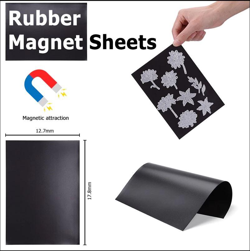 10 stk 17,7x12,7x0,3cm rubber magnet Sheet for Dies