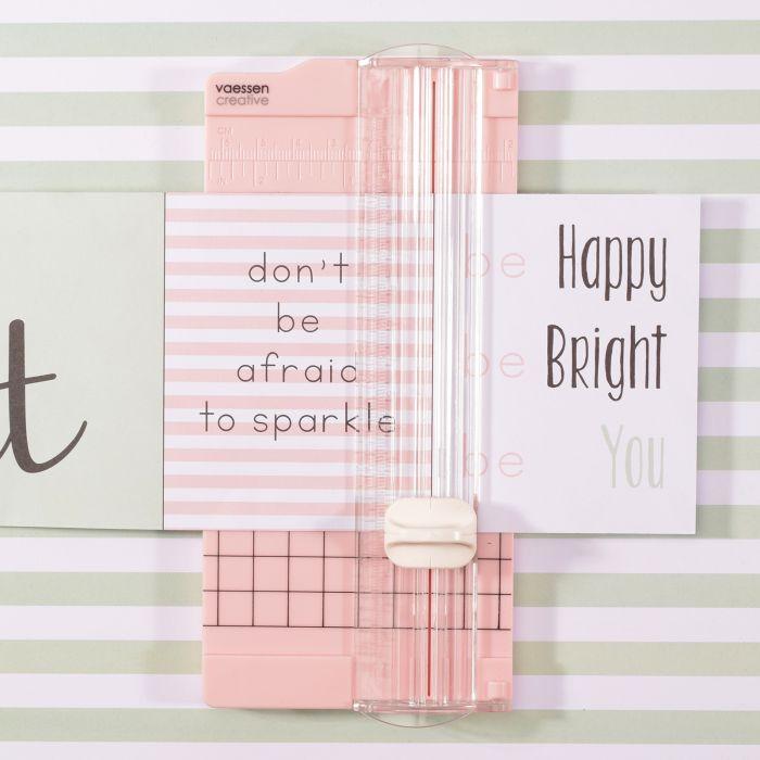 Vaessen Creative - Mini paper cutter 6,5x15,3cm pink