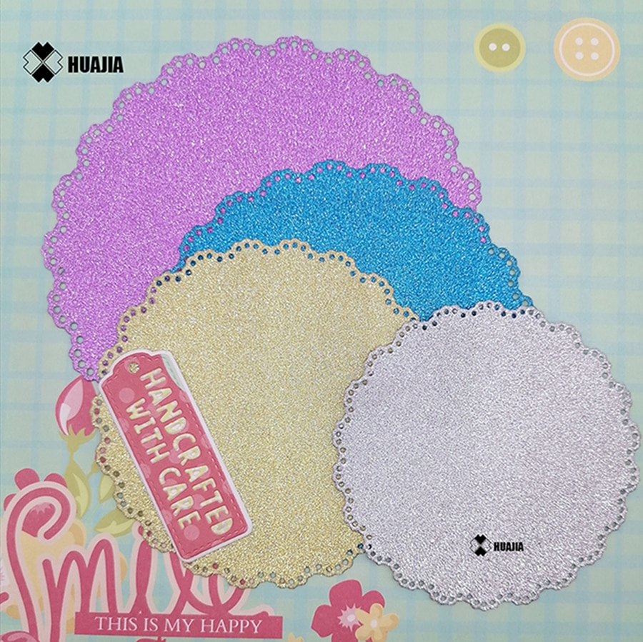 Nicole - 4pcs/set Lace Doily Circle Nesting Metal Cutting Dies