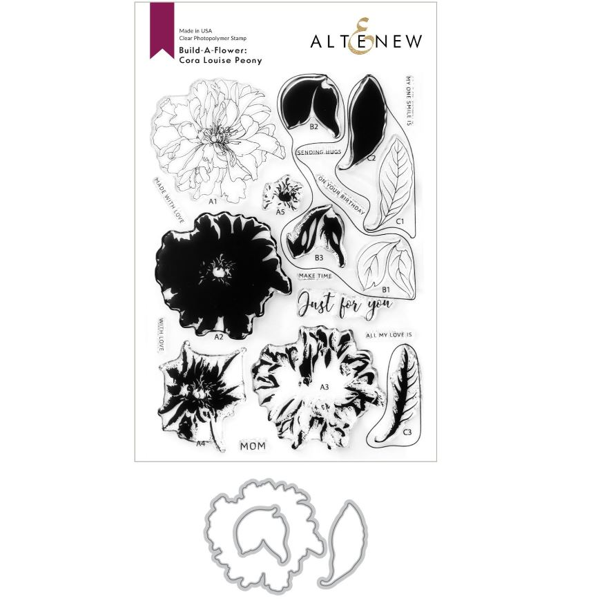 Altenew - Build-A-Flower: Cora Louise Peony Layering Stamp & Die Set