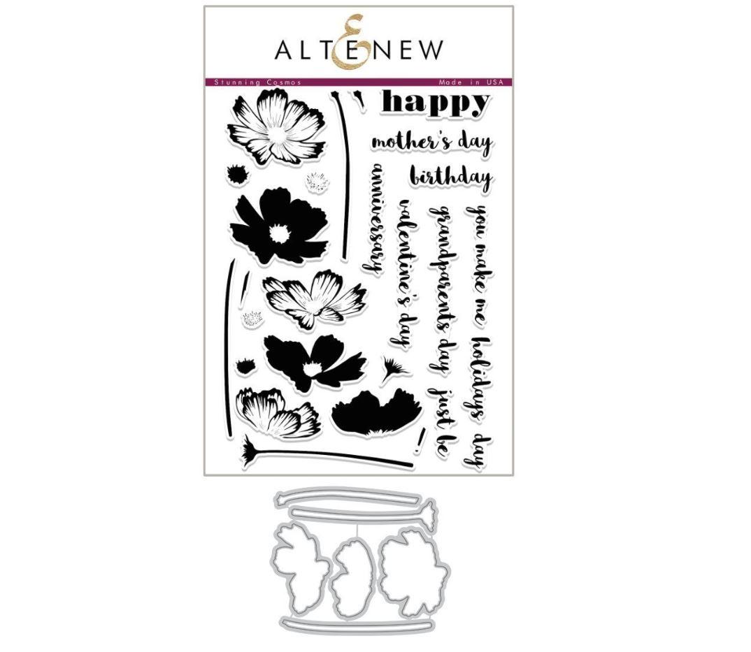 Altenew - Stunning Cosmos Stamp & Die (2 valg)