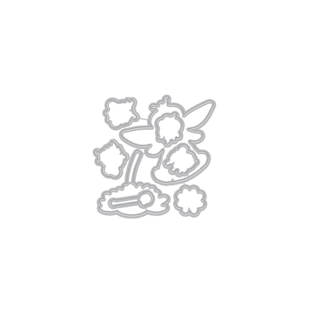 Hero Arts - Bee the Queen stamp and die (2 valg)